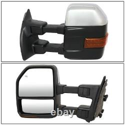 For 99-07 Ford F250 Super Duty Pair Power+heated+led Turn Signal Towing Mirror