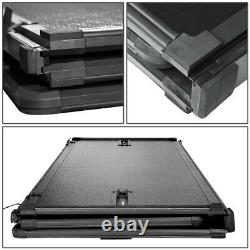 For 99-18 Ford Super Duty 6.5ft Short Bed Frp Hard Solid Tri-fold Tonneau Cover