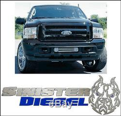 Ford Black Paintable Grille 05-07 Super Duty 99-04 f250 F350 Conversion Grill