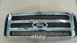 Ford CHROME Grille CONVERSION Black emblem 99-04 Super Duty F250 F350 F450 Free