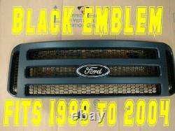 Ford MATTE BLACK emblem Grille CONVERSION 1999-2004 Super Duty F250 F350 F450