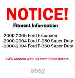 Front Brake Rotors & Pads Ford F-250 F-350 Super Duty Rotor Brakes Pad