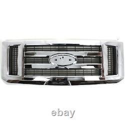 Front Chrome Grille For 2008-2014 Ford Econoline Van E150 E250 E350 SD E450 SD
