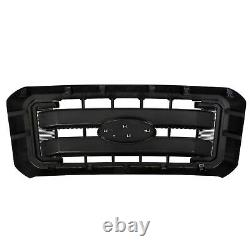 Front Radiator Grill Grille for 2011-2016 F250 F350 F450 F550 Super Duty Black