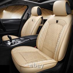 Full Set Car Seat Covers PU Leather Front+Rear Cushion For Interior Accessories