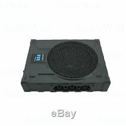GRAVITY 10 1200w CAR AUDIO UNDER SEAT SUPER SLIM POWERED SUBWOOFER ENCLOSURE S