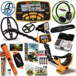 Garrett ACE 400 Metal Detector with Headphones & Propointer AT, Travel Bag, ++
