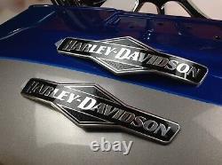Genuine Harley Softail Skull Willie G Fuel Gas Tank Set Emblems Badges
