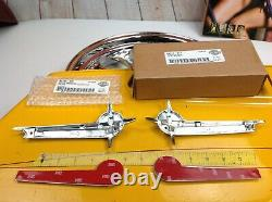 Genuine Harley Vintage Style Gas Fuel Tank Emblems Badges Touring Softail Dyna