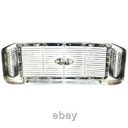 Grille For 2006-2007 Ford F-250 Super Duty F-350 Super Duty Chrome Plastic