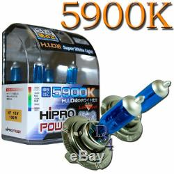 H7 100W White HID Xenon Halogen Headlight Bulbs 5900K