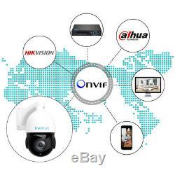 Inesun Outdoor PTZ IP Camera 5MP Super HD Pan/Tilt 30x Zoom Speed Dome Camera