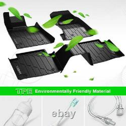 Lasfit Floor Mats Liners TPE for Ford F150 2015-2021 Super Crew Cab All Weather