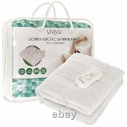 Livivo Super Cosy Electric Blanket Under Heated Fast Heat Single Double King Bed