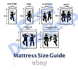 Memory Foam Mattress Orthopaedic Double King 3ft 4ft 5ft Depth 6 8 10 12