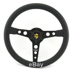 Momo Leder Sportlenkrad Prototipo 350mm schwarz black steering wheel volante
