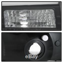 NEW Black 1999-2004 Ford F250 F350 F450 Super Duty LED Tube Projector Headlights