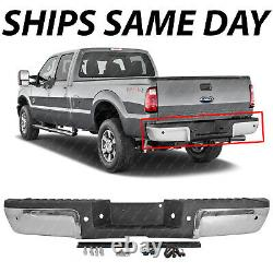 NEW Chrome Rear Bumper Assembly for 2008-2012 Ford F250 F350 Super Duty with Park