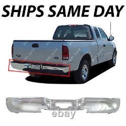 NEW Chrome Steel Rear Bumper for 1997-2003 Ford F150 & 1997-2007 Super Duty