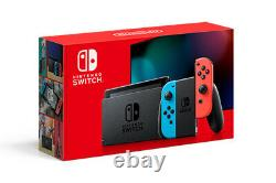 NEW Nintendo Switch Neon SUPER BUNDLE + MarioKart8 + Super Smash Bros + 16GB