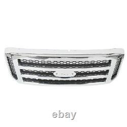 New Chrome Grille For Ford 2005 2006 2007 Super Duty F250 F350 Conversion Grill