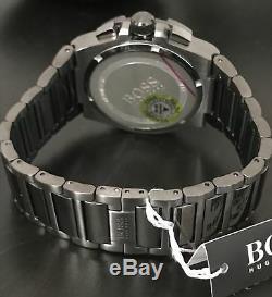 New Hugo Boss Hb1513361 Gun Metal Super Nova Edition Chronograph Men's Watch Uk