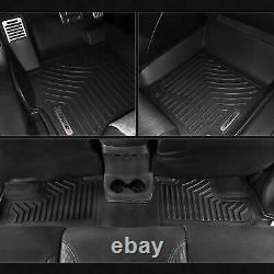 OEDRO Floor Mats Liners TPE for 2010-2014 Ford F-150 F150 Super Crew Cab Black