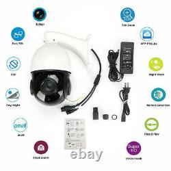 Outdoor PTZ IP Camera 5MP Super HD Pan/Tilt 30x Zoom Speed Dome Camera Onvif IR