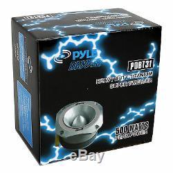 PYLE PDBT31 1.5 2000W 4-Ohm Heavy Duty Titanium Super Car Audio Tweeters