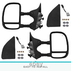Pair Power Heated Towing Mirrors for 99-07 Ford F250 F350 F450 F550 Super Duty