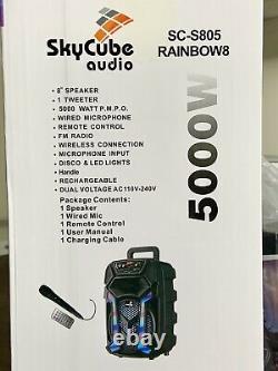 Portable Bluetooth speaker 8+1 Twitter 5000 Watts P. M. P. O Remote Mic Super Bass