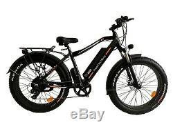 PowerMax Electric Bike Super Fast Powerful 1000W Motor. Fat Tire E-Mountain Bike