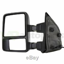 Power Heated SMOKE Turn Signal Light For 99-07 Ford F250 Super Duty Tow Mirrors