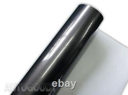 Premium Super Gloss Gray Metallic Gunmetal Vinyl Film Wrap Decal Air Bubble Free