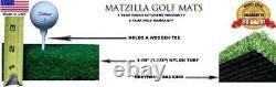 Premium Super Tee Golf Mat 4 feet x 5 feet Tee Line Mat Holds A Wooden Tee