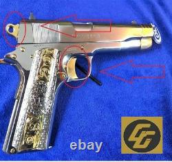 READ Complete Service 9 piece 1911 24k Mirrored Gold plating 38 super 45 acp 10