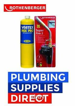 Rothenberger Super Fire 2 Blow Brazing Torch & Mapp Gas Plumbing Soldeing