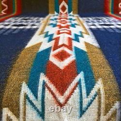 SUPER DEAL SOFT&WARM ALPACA WOOL BLANKET ANDEAN DESIGN 190x232cm BLUE