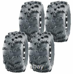 Set of 4 WANDA ATV UTV Tires 27x9-12 27x9x12 6PR Super Lug Mud