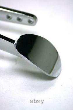 Street Rod Chrome Spoon Gas Pedal + Black Throttle Cable + Bracket & Spring Kit