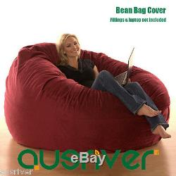 Super Large Luxury Seat Feeling Bean Bag Beanbag Cover Suede Round Loveseat