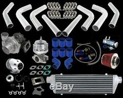 Super Power 70hp+ Universal T3/t4 Tubo Turbocharger Kit For Car Truck Van