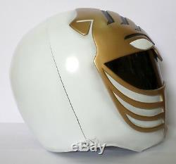 Super Ranger Hero Power Man Costume Helmet Color White & Gold