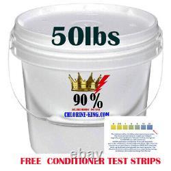 Swimming Pool Chlorine 50lbs Granular 90% pure Active Chlorine, not 73% see desc