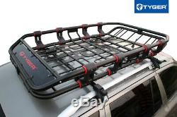 TYGER Extendable Super Duty Roof Top Cargo Basket Luggage Carrier Rack