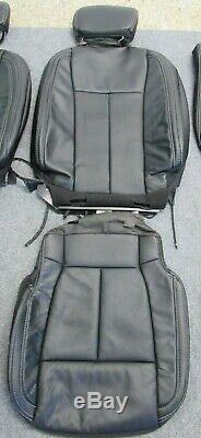 Takeoff 2015 2019 Oem Ford F150 Super Crew Black Leather Seat Upholstery