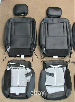 Takeoff 2015 2020 Oem Ford F150 Super Crew Black Leather Seat Upholstery