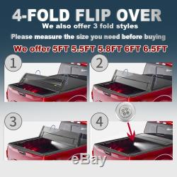 Tonneau Cover 5.5FT Truck Bed For 2015-2020 Ford F-150 SUPER CREW XLT XL Limited
