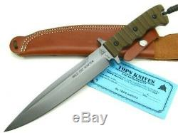 Tops WPH-07 Green Micarta Wild Pig Hunter Fixed Blade Hunting Knife + Sheath