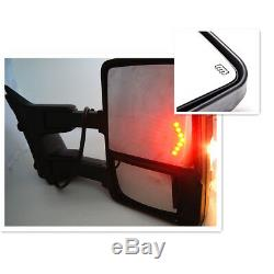Tow Mirror For 99-07 Ford F250 F350 Super Duty Black Power+Heated+Arrow Signal